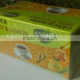 Best selling color boxes packing instant ginger tea granules at wholesale price