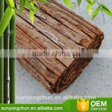 factory hot sale decorative roll up high quality eco-friendly bark fence natural wood fence