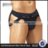 Wholesale Popular Cotton Comfortable Sexy Underwear Men Black Thongs Boxer Brief Fashion Custom Style