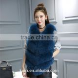 2016 New Arrival Full Pelt Fox Fur Gilet Women Fashion Whole Skin Fox Fur Vest Factory Wholesale Retail OEM Low Discount