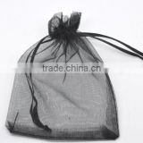 Black Organza Jewelry Packaging Bags Wedding Candy Packing Bag