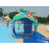 Aqua Splash Play Structure Fiber Glass Apple House Water Sprayground