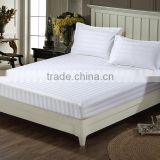China supplier hotel 3cm stripe cotton elastic fitted sheet