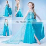 New Fashion frozen dress elsa frozen princess elsa costume For Girls halloween nude cosplay elsa costume FC2022