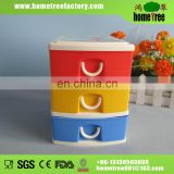 Colorful small 3 tier plastic storage drawer
