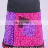 Bohemian Cotton Patchwork Mini Skirt HHCS 108 D