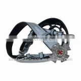 Genuine Leather Military Belt with Delicate Metal Buckle, 130cm Length and 4cm Width