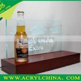 Acrylic beer wine bottle display case/wine bottle holder /rack