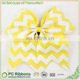 Yellow Chevron Cheer Bows Sport Cheerleading Bow