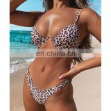 Wholesale Swim Wear Bikinis Mujer Woman Swimwear 2020 New Ribbed Underwire Bikini