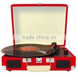 Cruiser Portable Turntable Player With Three Speed Bluetooth Function and Belt-Driven System