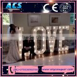 ACS decorative LOVE letter beautiful standing for wedding and decoration battery LED marquee light letters