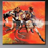 Artwork sport basketball footballer oil painting on canvas AX-28 hand painted home decor 2014 new