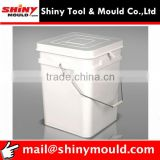 Square Screw cover food-grade plastic bucket mould