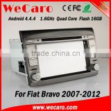 "Top Version Android 4.4.4 car dvd 7"" 1024 * 600 radio gps for fiat bravo mirror link A9 cpu 2007-2012"