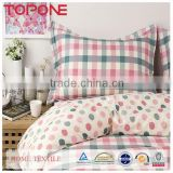 Comfortable material winter type hot sale plaid print bed sheets