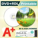 TAIWAN dual layer dvd / blank dvd printable 8X 8.5GB