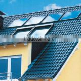 Family use solar hot water system pressurized solar water heater with flat panel solar water heater