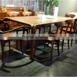 Luxury dining table set wood dining set high quality dinner furniture