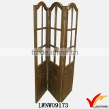 Decorative Vintage Partition Hinges Solid Wood Folding Screen