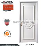 Wood panel door design 3 decorative panels door skin white painting wooden door made in china