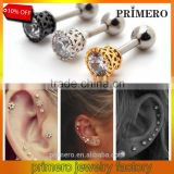 Tragus Helix Ear Stud Earring Ball Barbell Ear Piercing Black Silver Gold Barbell Jewelry