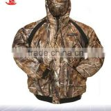 Heated Bomber Style Camo Hunting Jacket