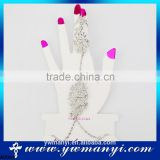 Cheap wholesale hollow sliver rhinestone bracelet ring A0064