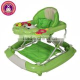 New Design Assorted Color Mobile Entertainer Wheel Baby Walker With Tray