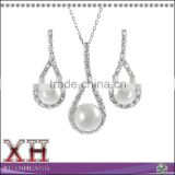 Wedding Jewelry Sets Dubai Bridal Pearl and Silver Jewelry Set