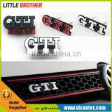 Silver Chrome Red GTI Emblem Car Front Grille Grill Badge for VW GTI GOLF POLO