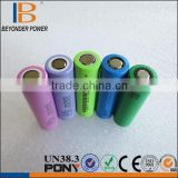 Customize battery manufacturer 2000-2600mah 3.7v rechargeable c18650 lithium battery for electric battery pack