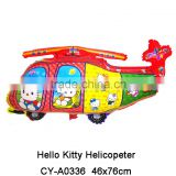 New arrival Hello Kitty Helicopter helium balloons inflatable foil transportation balloons