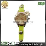 Transparent yellow PU plastic strap cheap children watch