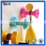 Mini screw plastic adhesive strong suction wall hooks, stable wall hanger hooks adhesive hooks wall hooks