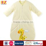 100% cotton super soft printed winter baby sleeping bag