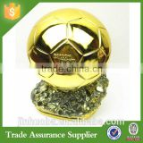 Hi-Q Custom Magnificent Gold Resin 3D Football Trophy Souvenir