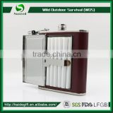 Stainless steel promotional Black 5oz disposable hip flask