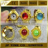 wholesale Rhinestone man/women Finger ring watch water reiistant quartz japan movt ring watch