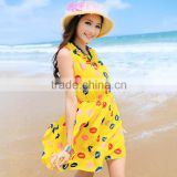 Fashionable ladies dress names or girls beach dress and long dress beach with low price wholesale custom