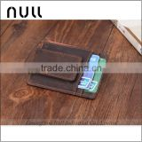 Popular antique style card holder wallet crazy horse leather money clip