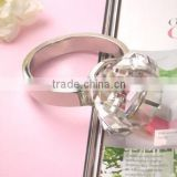 Wholesale blank clear color napkin holder keyring crystal diamond napkin ring for wedding centerpieces