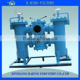 double-unit pipeline filter in line oil strainer