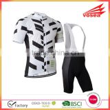 White and Black BIB Short Bike Cycling Jersey Wear