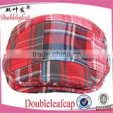 2015 Most Fashion Adjustable Classic Tartan Beret Hat Wholesale Unisex Military Style Cap