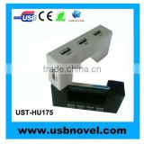 2.0 4 port usb clock hub
