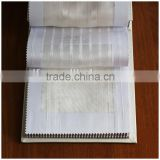 100% polyester fire retardant sheer stripe window fabric XJSY 0241