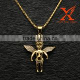 Men's Hip Hop Jewellery Stainless Steel Gold Kings Crown Angel Charm Pendants                                                                         Quality Choice