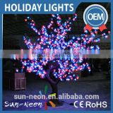 Outstanding Festival Christmas Decoration Pure White Led Cherry Blossom Tree Lights For Street Decorations,