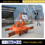 New design single ladder anti-rotating tilting cylinder lift platform vertical machine lifting platform